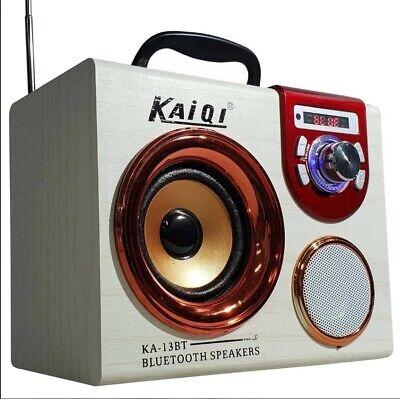 Altavoz portatil Bluetooth Reader Speaker Altavoces 2×3W radio FM USB SD MP3