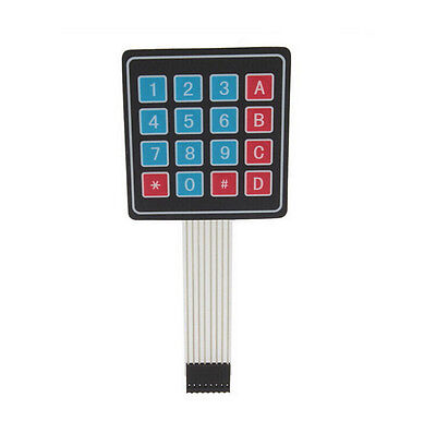 Hot Membrane Switch Keypad For Arduino 16 Key Keyboard 4 X 4 Avr Matrix Array