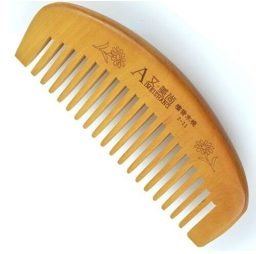 Natural Wide Tooth Peach Wood Healthy No-static Massage Hair