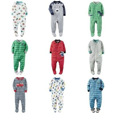 CARTER'S Infant Boy Footed Blanket Sleeper Pajamas Assorted Fleece Cotton NB-24M