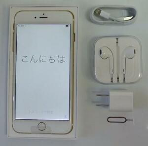 Apple iPhone 6 Plus + 16GB Bell Virgin GSM LTE Gold 30 days Warranty includes all accessories M3329