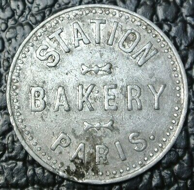 STATION BAKERY PARIS ONTARIO TOKEN - Good For One Loaf of Bread - SCARCE
