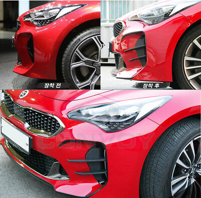 Front Bumper Devil`s Clow Canard Wing Fog Lamp Cover For Kia Stinger 2018~2019+