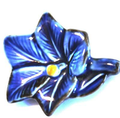 "Beautiful 2"" Ceramic Asian Oriental Chopstick Rest Blue Flower"