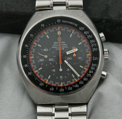 Vintage 1970 Omega Speedmaster Mark II Chronograph Racing Dial Swiss Watch EXC+