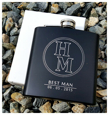 Personalized Flask, Best Man Groomsmen Bridesmaid Gift Wedding Present Thank