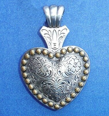 Western Cowgirl Jewelry Antique Silver/Gold Berry Heart Concho Pendant Kit