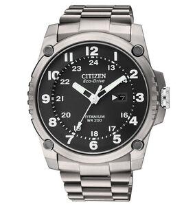 Citizen Eco-Drive Mens Super Titanium Military Look Watch BJ8070-51E