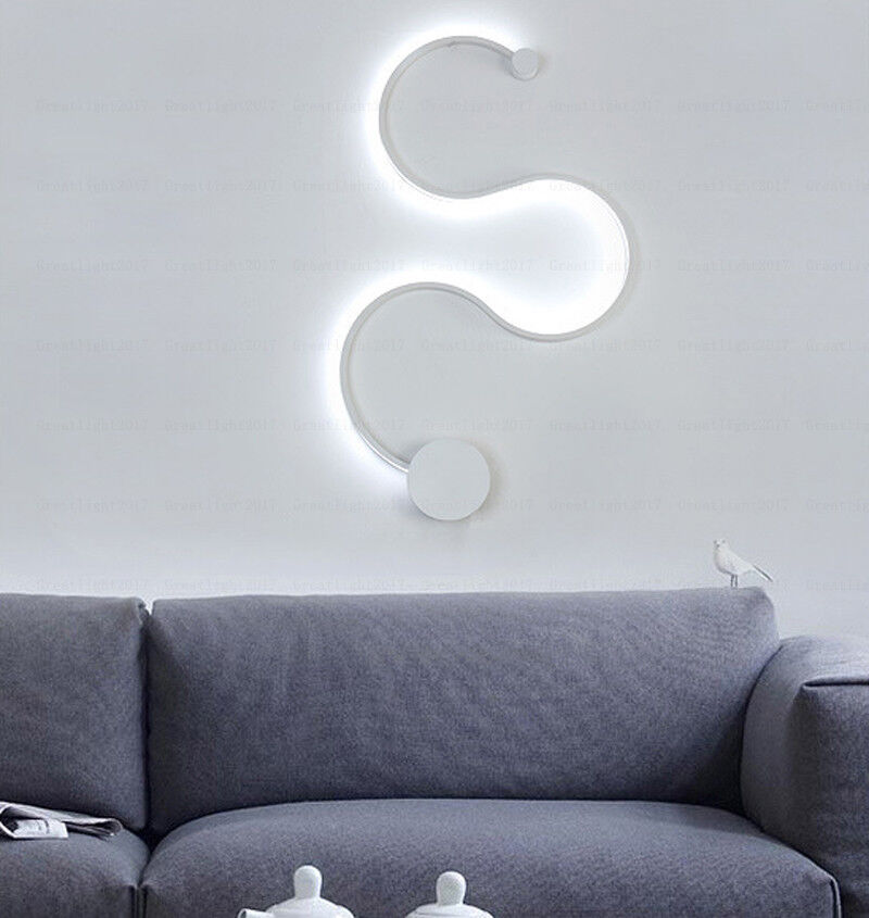 Creative Acrylic Curve Light Snake Led Lamp Nordic Led