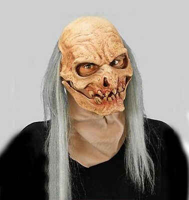 Grave Digger Old Man Zombie Undead Adult Halloween Mask Action Moving - Halloween Grave Digger