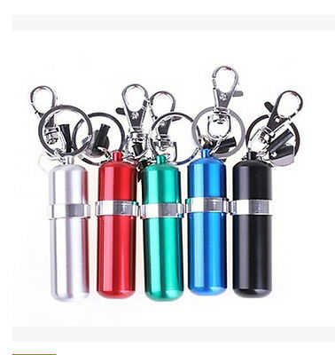 Stainless Steel Portable Alcohol Burner Lamp With Keychain Keyring IUUK