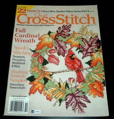 Just Cross Stitch Magazine Oct. 2018 ~ Fall Cardinal Wreath ~ Halloween Alphabet - Fall Halloween Wreaths