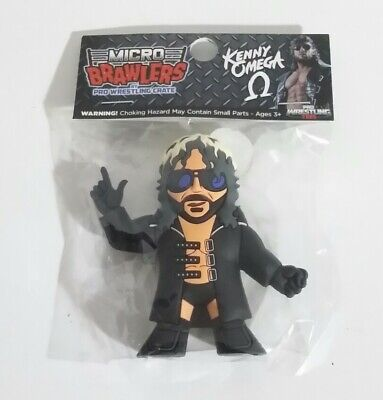 KENNY OMEGA Micro Brawlers Pro Wrestling Crate Tees Figure WWE AEW ROH