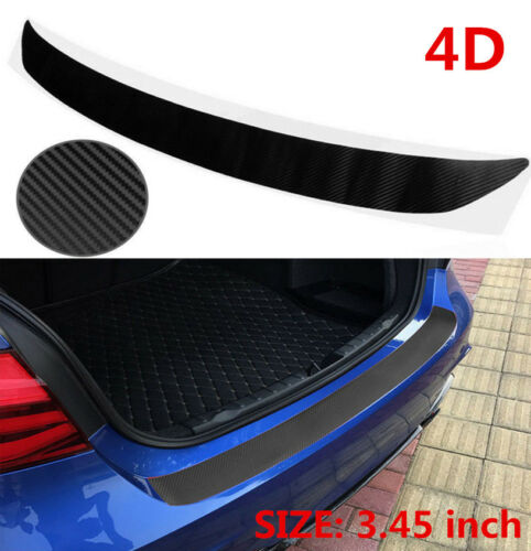 Car Parts - Universal Car Sill Plate Bumper Guard Protector Carbon Fiber Pad Cover Trim