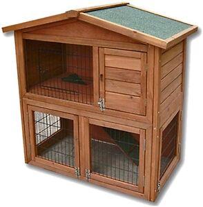 Casetta per roditori in legno su 2 piani gabbia per - Casetta per conigli ...