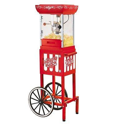 Movie Theme Decor Popcorn Cart Machine Maker Party Supplies Home Theater Popper