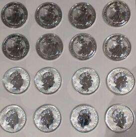 16 x 1 oz Silver Britannia Coins 2020 PERFECT CONDITION