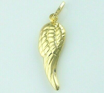 New 9ct Yellow Gold Angel Wing Charm / Pendant ()