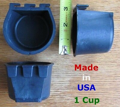 Cage Cups 12pcs Black 1 Cup / 8 fl oz Hanging Feed & Water Cage Cups Rabbit Bird