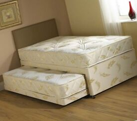 Single bed and matress harldy used ( guest bed underneath not included)