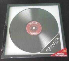 BNIB Vinyl Record Photo Frame Retro LP Album Cover Square Frame Wall Display 12.