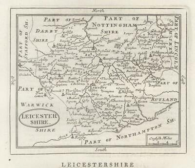 c1780 Original Antique Map LEICESTERSHIRE by John Seller / Francis Grose (GR)