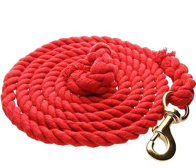 "WEAVER COTTON LEAD Soft Cotton 5/8"" Rope Length 10ft. Red"