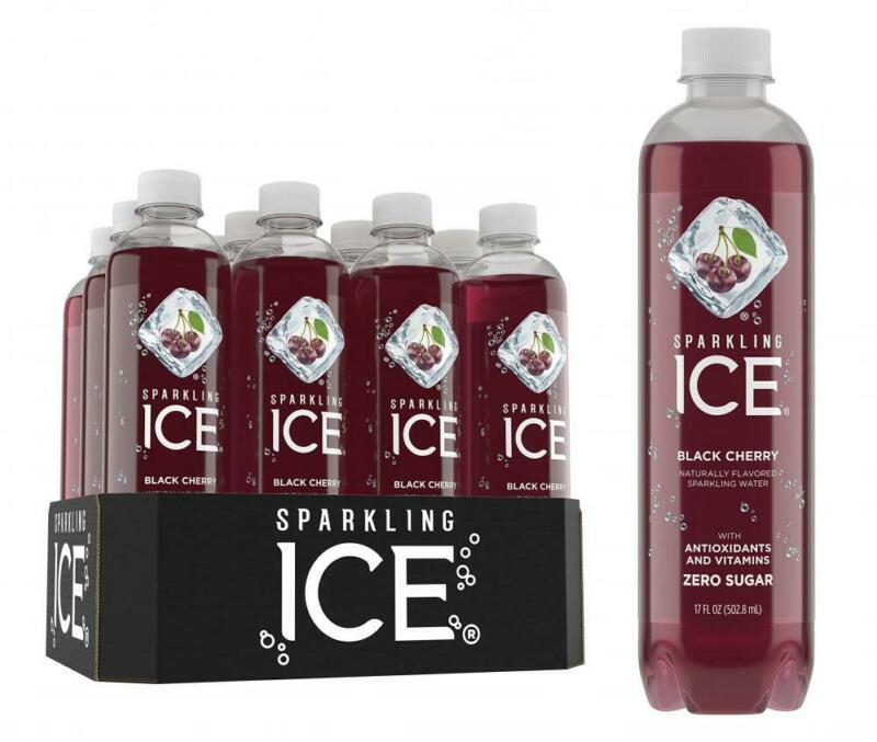 Sparkling ICE, Black Cherry Water, with 17 Fl. Oz (Pack of 12)