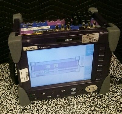 Jdsu Tberd 8000 Transport Module V3 Fully Loaded Jitter Fiber Optic Analyzer