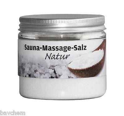 Salz Massage (Natur Massagesalz Peelingsalz Salzpeeling Hautpeeling Saunasalz Salz in 2 Größen)