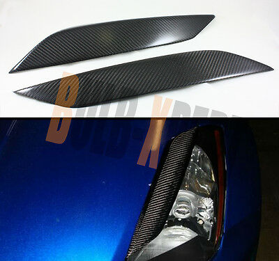 FOR NISSAN 03-09 350Z Z33 FAIRLADY CARBON FIBER HEADLIGHT EYE LID EYELIDS COVER