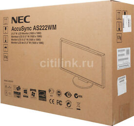 21.5-inch NEC AccuSync W-LED Backlit Monitor - New in Box