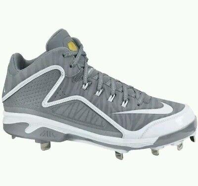 210a8c2cbd Nike Men's Swingman MVP 2 Mid Metal Baseball Cleats Style 616258-011 Size 12