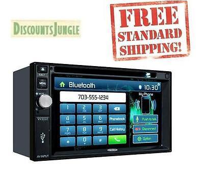 Jensen VX3022 Double DIN In-Dash Bluetooth 6.2 Touchscreen DVD/CD/USB Car Stereo