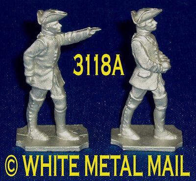 AUSTRIAN Artillery 40mm Casting Set 3118A 7 Years War Officer & Crewman + Round