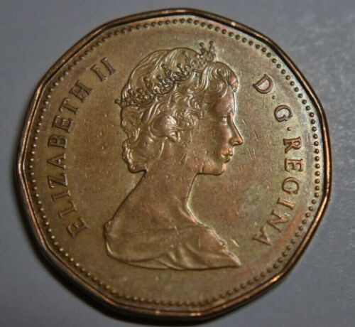 Canada 1988 Loonie Canadian One Dollar Loonie $1 Coin-Hendecagonal