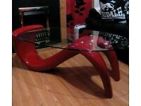 Red wave/mermaid coffee table