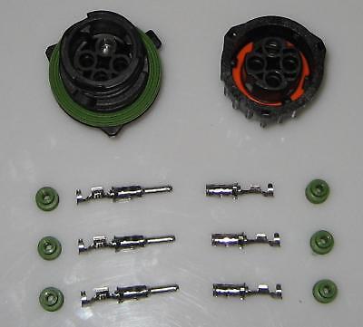 AMP Tyco Rundsteckverbinder Komplettset  3polig seal ()