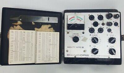 Sencore Tc136 Mity-mite Tube Tester Original Data Manual Users Manual Working