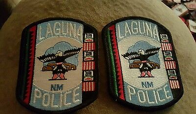 PUEBLO OF LAGUNA NEW MEXICO TRIBAL POLICE PATCH set of 2