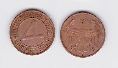 4 Pfennig Kupfer Münze Deutsches Reich 1932 D  (105896)