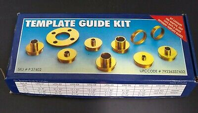 Woodworking Template Guide Kit - Adapter 2 Lock Nuts 7 Template Guides