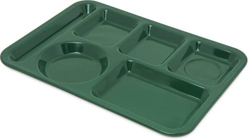 Carlisle Food Service Products Left Hand 6-Compartment Tray Forest Green