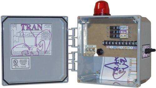 TRAN N2 - 3 BREAKER AEROBIC SYSTEM CONTROL BOX, Air Switch, & Pump Test