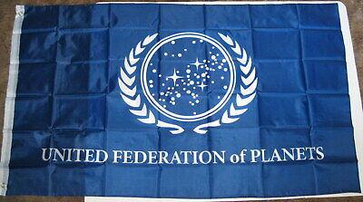 Star Trek Banner Flag United Federation of Planets Blue 3' x 5' Movie TV (Star Trek United Federation Of Planets Blue Flag)