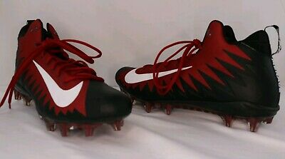 a7f7c29ae Nike Alpha Menace Football Cleats SZ 16 Red and Black 866012-601