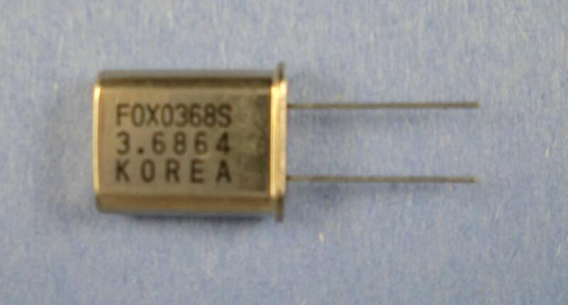 Crystal 3.6864 MHz : 2pcs per lot