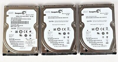 """Lot of 3 Seagate 160GB ST9160314AS ST9160312AS Laptop SATA 2.5"""" Hard Drive"""