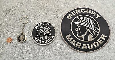 MERCURY MARAUDER - KEYCHAIN & SMALL & LARGE PATCH - VINTAGE ORIGINAL  2003 2004