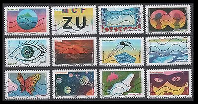 France 4875-4886 The Five Senses-Sight  [12 USED Stamps] [Year